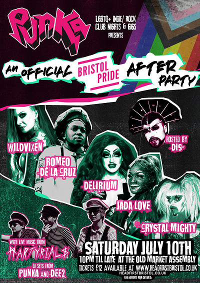 Punka: An Official Bristol Pride After Party! at The Old Market Assembly in Bristol