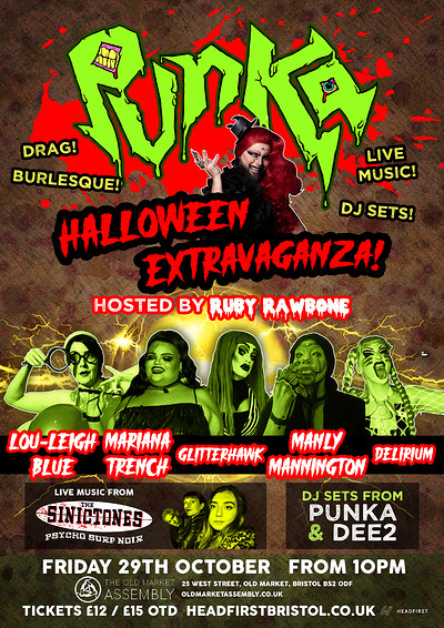 PUNKA HALLOWEEN EXTRAVAGANZA!! at The Old Market Assembly in Bristol