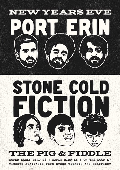 NYE: Port Erin + Stone Cold Fiction at The Pig & Fiddle *Bath* in Bristol