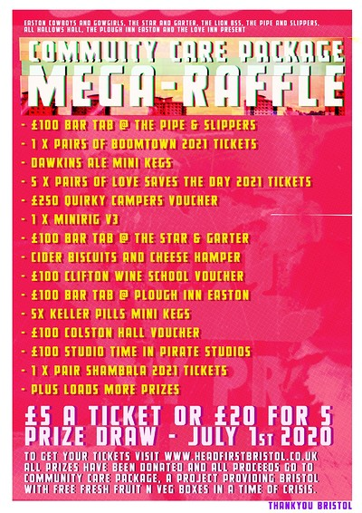 Community Care Package Mega-Raffle at The Plough Inn in Bristol
