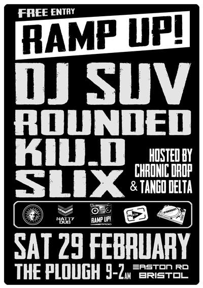 Ramp Up! DNB @ The Plough / Sat 29th Feb 2020 at The Plough Inn in Bristol