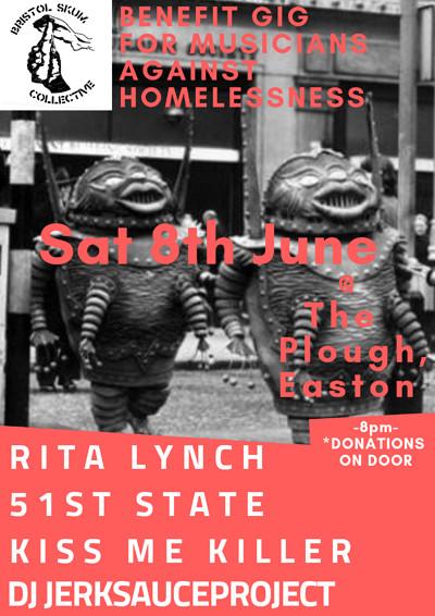 Rita Lynch, 51st State + Kiss Me Killer at The Plough Inn in Bristol