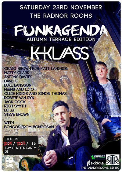 Funkagenda's Autumn Terrace Party with K-Klass at the radnor rooms in Bristol