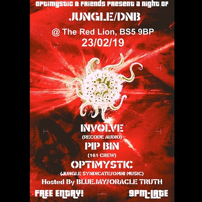 Optimystic & Friends Free Jungle/Dnb Session 17 at The Red Lion BS5 in Bristol