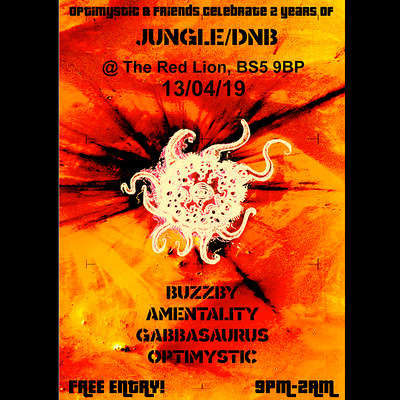 Optimystic&Friends Free Jungle/DnB Session 18 at The red Lion BS5 in Bristol