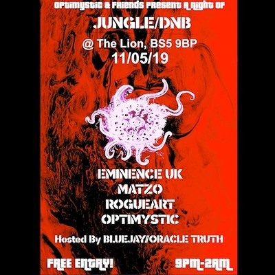 Optimystic & Friends Free Jungle/DnB Session 19 at The Red Lion BS5 in Bristol