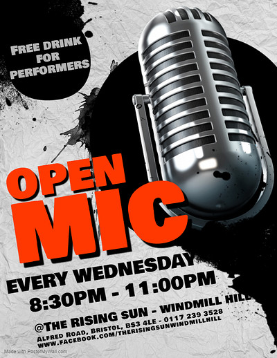 Open Mic at The Rising Sun - Windmill Hill at The Rising Sun in Bristol