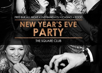 Casino Royale New Year's Eve Party at The Square Club in Bristol