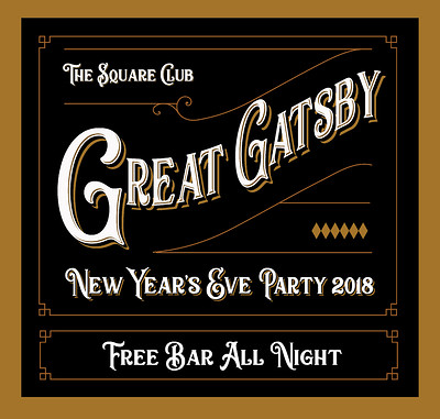Great Gatsby New Year's Eve 2018 @ The Square Club at The Square Club in Bristol