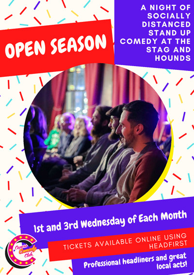 Open Season: Socially Distanced Comedy at The Stag And Hounds in Bristol