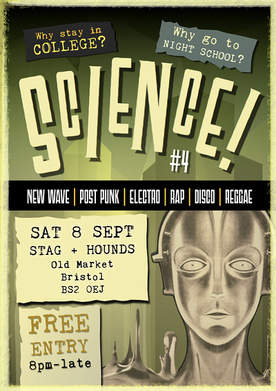 SCIENCE #4 - Bristol's New Wave Disco Party at The Stag And Hounds in Bristol