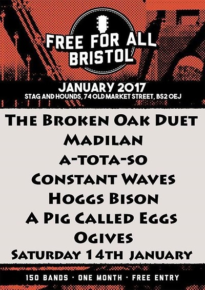 The Broken Oak Duet, Madilan, A-tota-so at The Stag And Hounds in Bristol