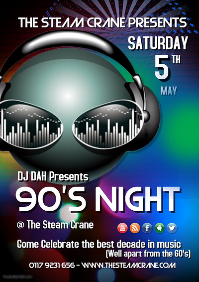 90's Night & BBQ at The Steam Crane in Bristol