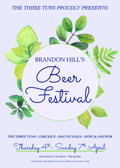 Brandon Hill Beer Festival at The Three Tuns in Bristol
