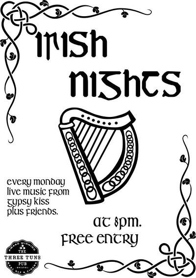 Irish Folk Night with Gypsy Kiss at The Three Tuns in Bristol