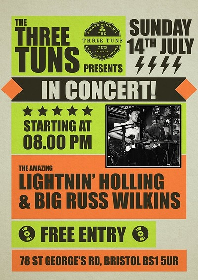 Lightnin' Holling & Big Russ Wilkins live at The Three Tuns in Bristol