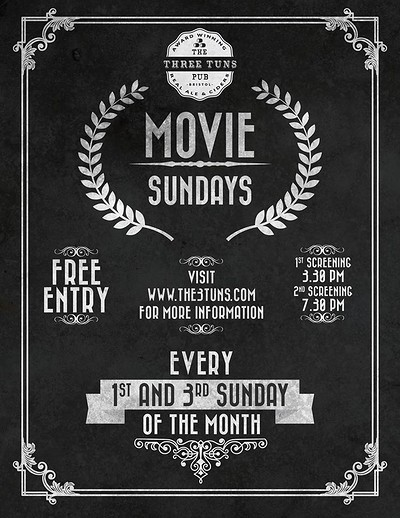 Movie Sundays at the Three Tuns at The Three Tuns in Bristol