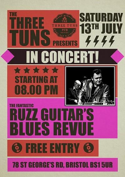 Ruzz Guitar's Blues Revue at The Three Tuns in Bristol