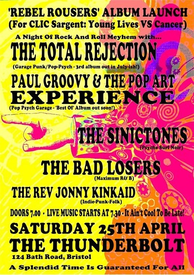 Charity Album Launch Benefit for Clic Sargent at The Thunderbolt in Bristol