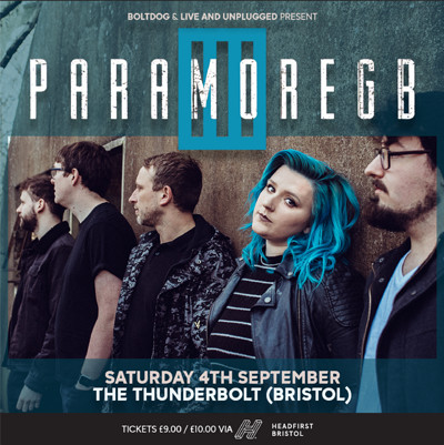 PARAMORE GB (Paramore Tribute Band) at The Thunderbolt in Bristol