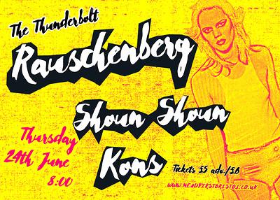 RAUSCHENBERG + Shoun Shoun + Kins + DJ Gary Smith at The Thunderbolt in Bristol