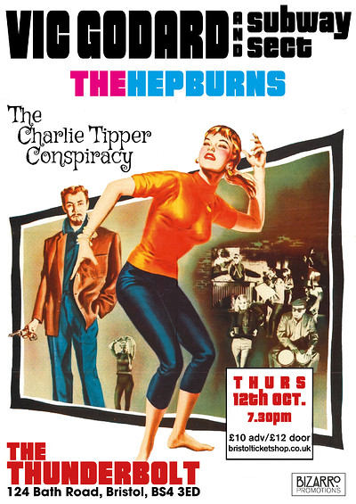 Vic Godard & Subway Sect/The Hepburns/Charlie Tipp at The Thunderbolt in Bristol