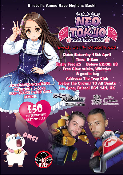 Neo Tokyo Cosplay Rave 2  at the Trap (The Crown Bristol) 10 All Saints Ln, Avon, Bristol BS1 1JH,  in Bristol