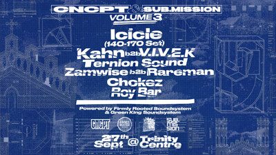 CNCPT x Sub.Mission III: Icicle, Kahn b2b Vivek at The Trinity Centre in Bristol