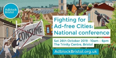 Fighting for Ad-free Cities - a national conferenc at The Trinity Centre in Bristol