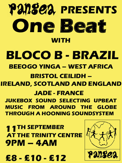 Pangea Presents - 1 Beat at The Trinity Centre in Bristol