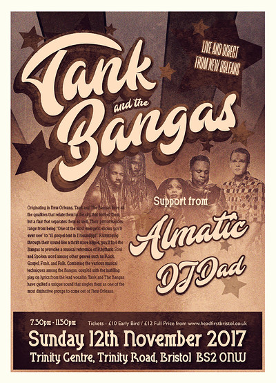 Tank and the Bangas at The Trinity Centre in Bristol