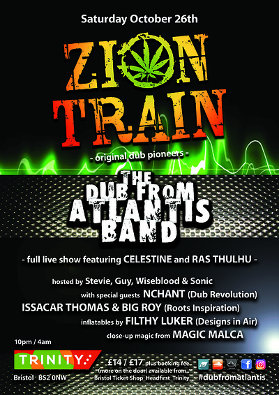 Zion Train / Dub From Atlantis Band at The Trinity Centre in Bristol