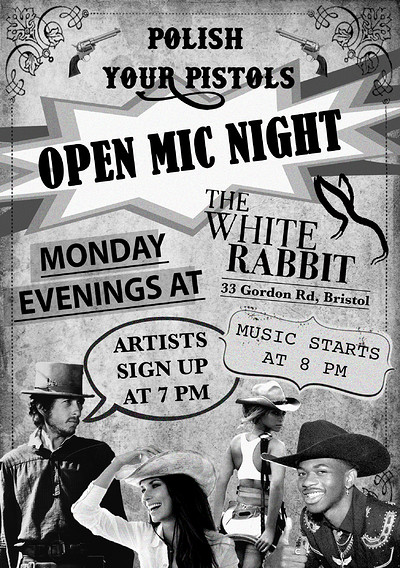 Polish Your Pistols - Open Mic Night at The White Rabbit in Bristol