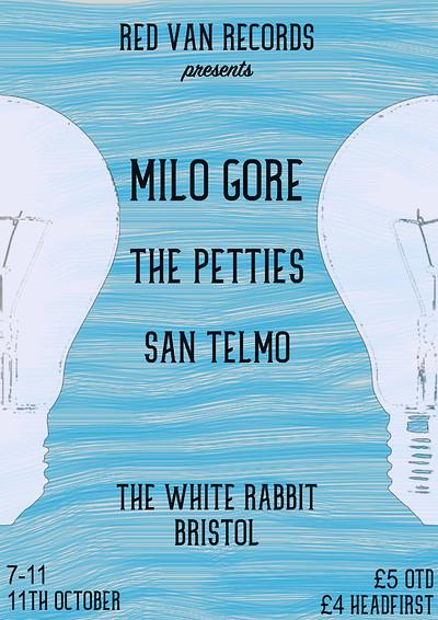 RVR Presents: Milo Gore, The Petties & San Telmo at The White Rabbit in Bristol
