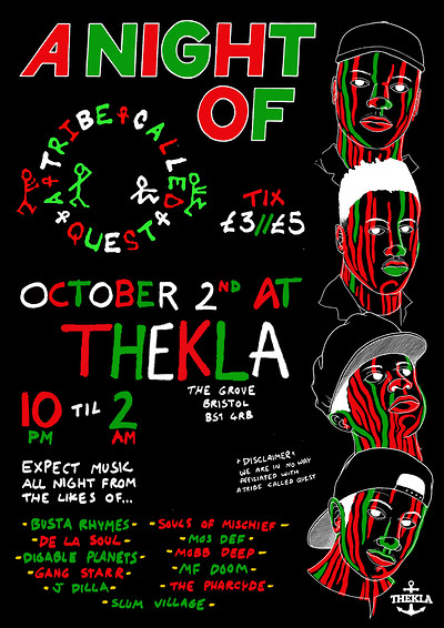 A Night Of: A Tribe Called Quest at Thekla in Bristol