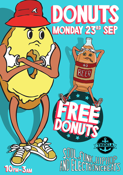 DONUTS Freshers Party  at Thekla in Bristol