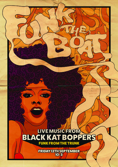 Funk The Boat feat. Black Kat Boppers at Thekla in Bristol
