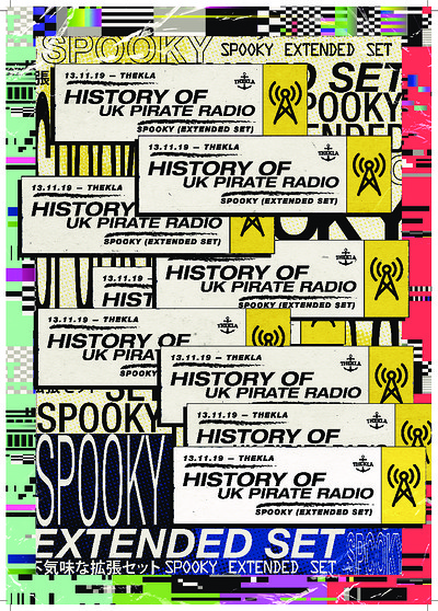History of UK Pirate Radio - Spooky Extended Set at Thekla in Bristol