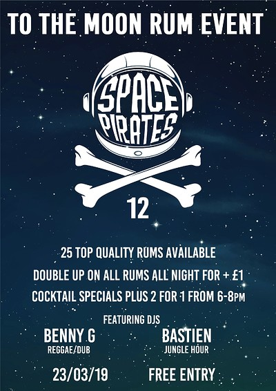 Space Pirates 12 - rum event at To The Moon in Bristol
