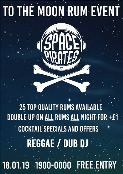 Space Pirates Rum Event at To The Moon in Bristol