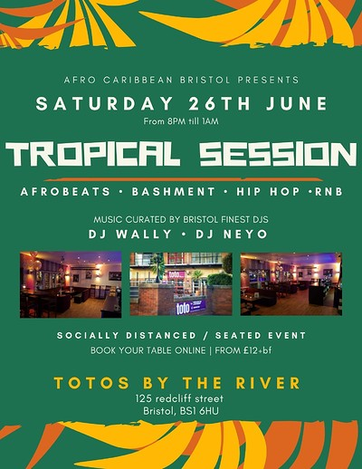 TROPICAL SESSION at Toto's by the river in Bristol