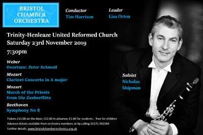 Bristol Chamber Orchestra at Trinity-Henleaze United Reformed Church in Bristol
