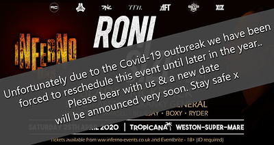 Inferno DnB presents RONI SIZE - Postponed! at Tropicana in Bristol