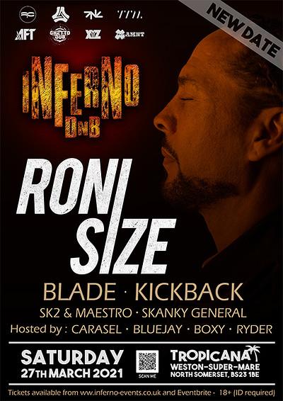 Inferno DnB presents RONI SIZE at Tropicana in Bristol