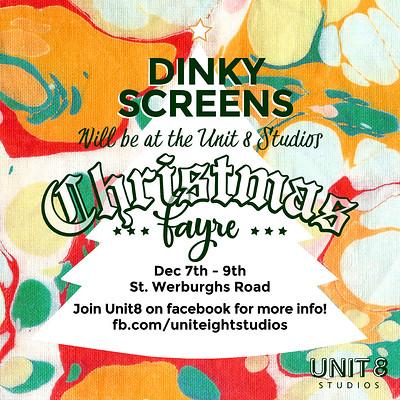 Christmas Screen Printing Taster Session. at Unit 8 Studios in Bristol