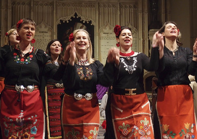 London Bulgarian Choir, workshop and concert at United Reformed Church, Redland in Bristol