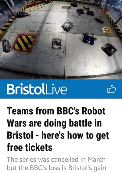 Bugglebots 2019 Filming: Live Robot Fighting! - at UWE Frenchay Campus in Bristol