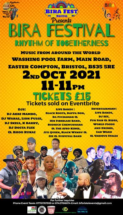 Bira Festival. - Rhythm of Togetherness at Washingpool farm in Bristol