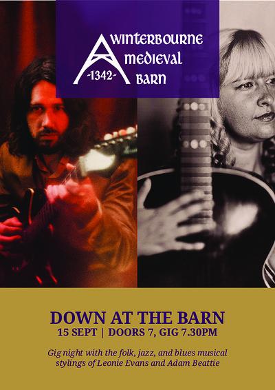Down at the Barn with Leonie Evans + Adam Beattie at Winterbourne Medieval Barn in Bristol