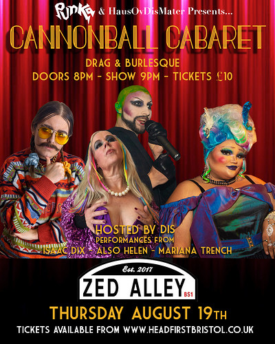 Cannonball Cabaret Vol 2 at Zed Alley in Bristol
